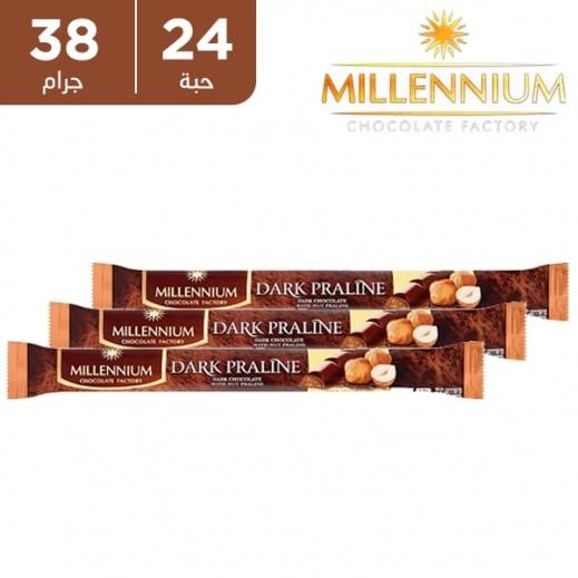 ميلينيوم - شوكولاته داكنة ببرالين البندق 24 × 38 جم
