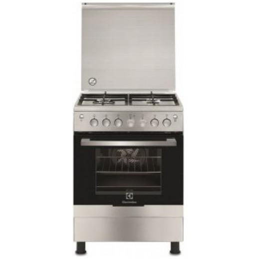 إلكترولوكس – طباخ غاز 4 شعلة 60 × 60 سم مع فرن وشواية – أبيض - يتم التوصيل بواسطة Jashanmal & Partners خلال ثلاثة أيام عمل