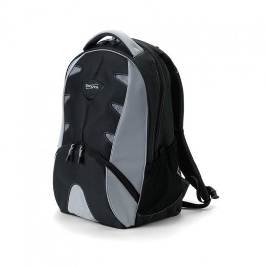 """ديكوتا - حقيبة مبطنة """" إليمنت """" للابتوب والكتب المدرسية - رمادي و أسود"""