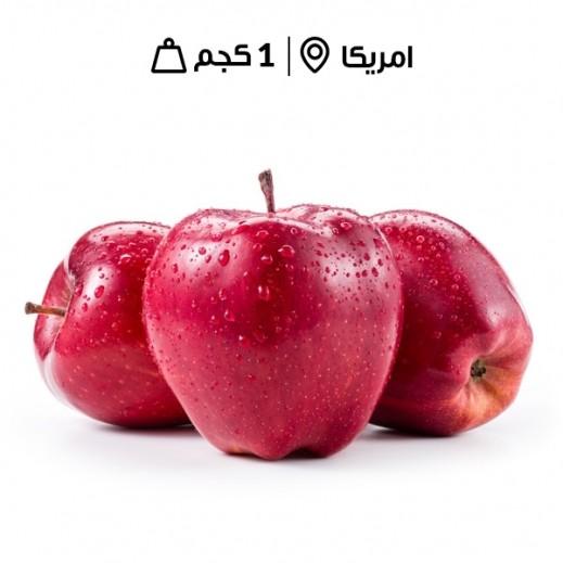 تفاح أحمر أمريكي  طازج (1 كجم تقريبا)