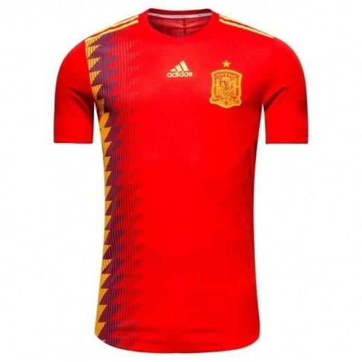 أديداس - تى شيرت منتخب اسبانيا في كاس العالم 2018 لكرة القدم – مقاس صغير- XXXL