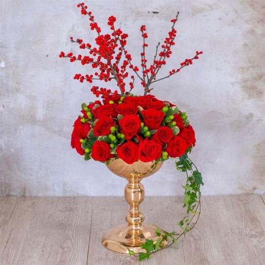 ورد أليكس أحمر  - يتم التوصيل بواسطة Art Fleur