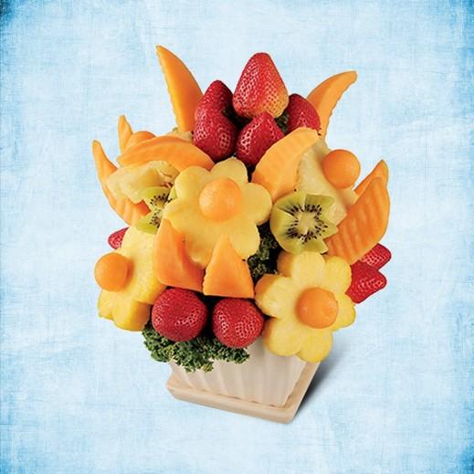 باقة السعادة - يتم التوصيل بواسطة Fruit Art