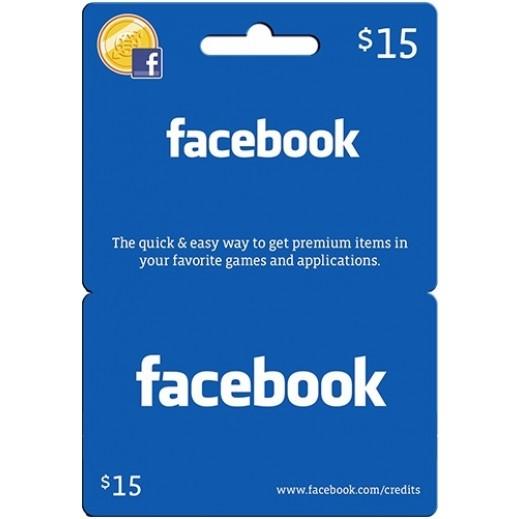 كارت العاب للفيسبوك $15