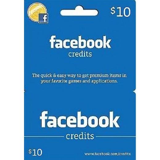 كارت العاب للفيسبوك $10