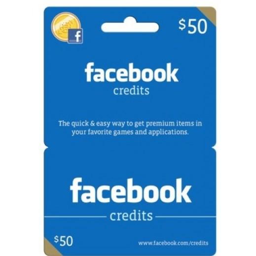 كارت العاب للفيسبوك $50