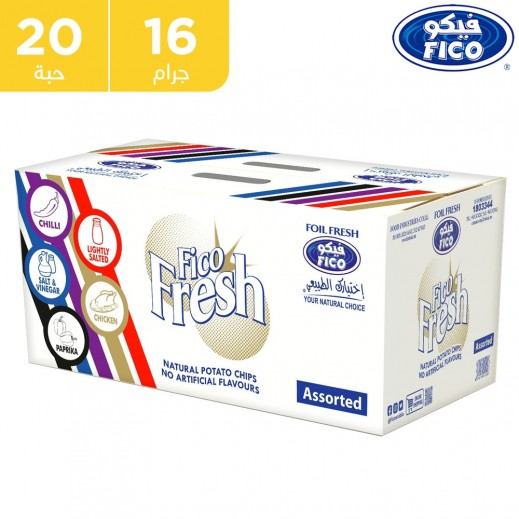 فيكو بطاطا فريش مقرمشة نكهات متنوعة 20 × 16 جم