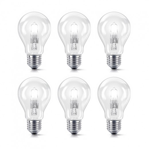 GE 60 W E27 GLS clear screw (Pack of 30 pieces)