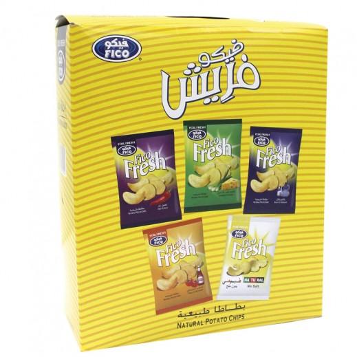 فيكو – صندوق بطاطا طبيعية متنوع الأطعمة 20 حبة × 16 حبة