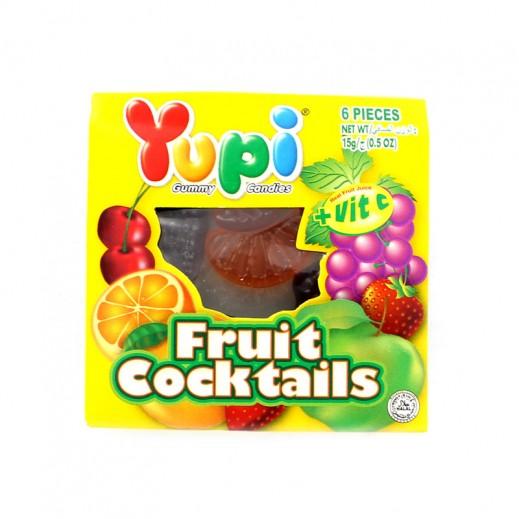 يوبي – حلوى جيلاتين بطعم الفواكة المشكلة ( 6 حبة ) 15 جم