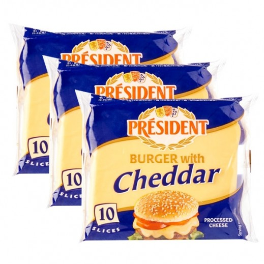 President Burger Cheese Slices 3 x 200 g