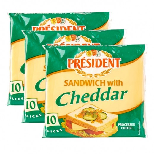 President Special Sliced Sandwich Cheese 3 x 200 g
