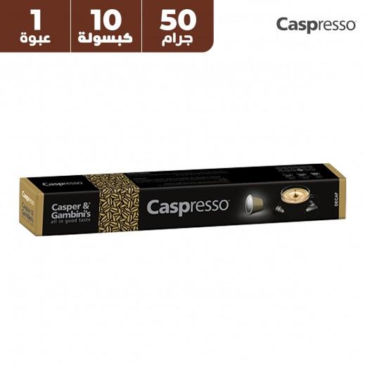 قهوة منزوعة الكافيين كاسبرسو كاسبر اند جامبينيز 50 جم (10 كبسولات)