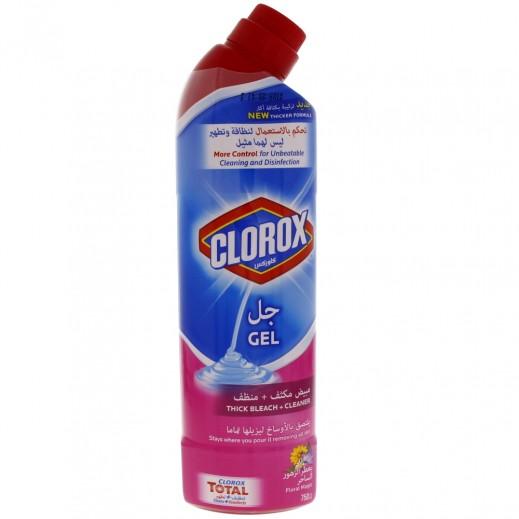 كلوركس – جلّ مبيض مكثف + منظف مطهر برحيق الزهور (متعدد الاستخدامات) 750 مل