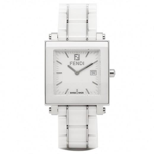 فندي - ساعة بيضاء للنساء - يتم التوصيل بواسطة My Fair Lady