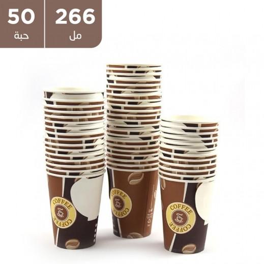 أكواب ورقية مع مقبض 266 مل (50 حبة)