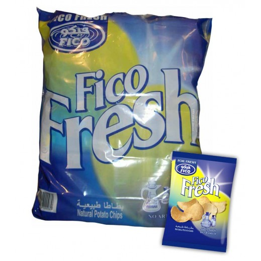 فيكو – بطاطا طبيعية بطعم الملح والخل 16 جم × 20 حبة