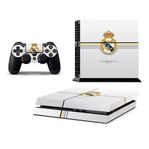ملصق REAL MADRID لجهاز PS4  + عدد 2 ملصق ليدة التحكم M4