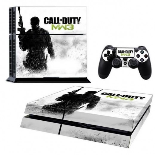 ستيكر CALL OF DUTY MW3 لجهاز PS4  + عدد 2 ملصق ليدة التحكم M2
