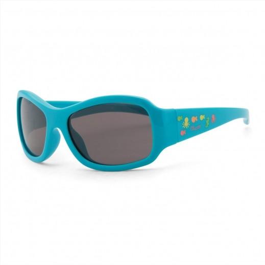 شيكو – نظارات شمسية للأولاد - نقشة فلو أزرق فاتح - 24 شهر فما فوق