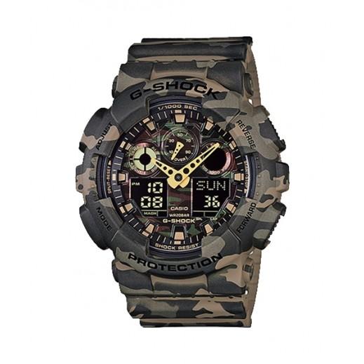 كاسيو - ساعة يد رقمي وتناظري G-SHOCK بحزام راتينج للرجال - أخضر - يتم التوصيل بواسطة Veerup General Trading
