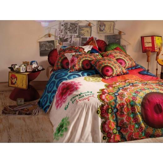 ديسيغوال الإسبانية طقم غطاء لحاف جلاكتيك 3 قطع - طقم دوبل  220×240 سم   - يتم التوصيل بواسطة Dunia Stores