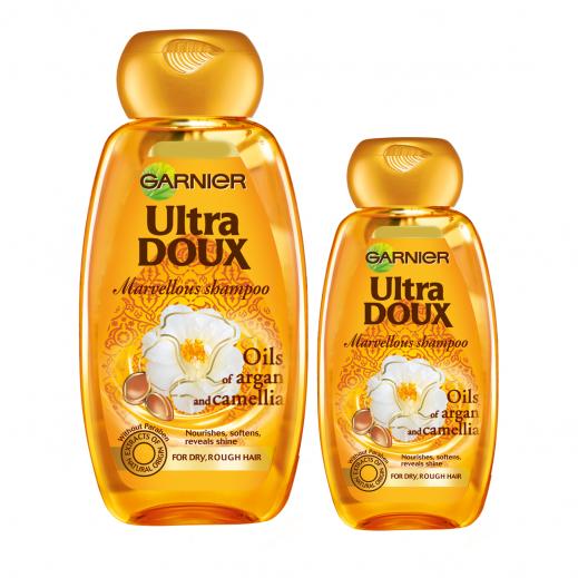 Garnier Ultra Doux Marvellous Shampoo 400 ml + 200 ml Free