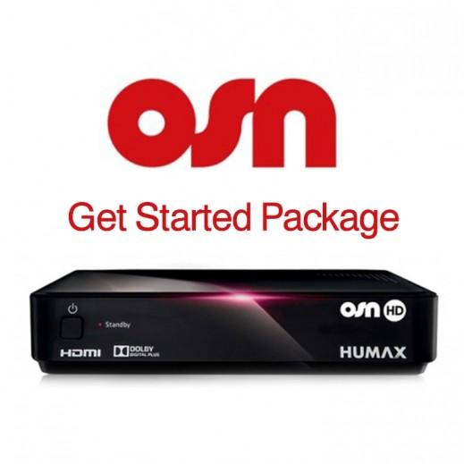 اشتراك OSN Get Started لمدة سنة و ريسيفر هيوماكس HD - يتم التوصيل بواسطة Nasser Alhusainan Company