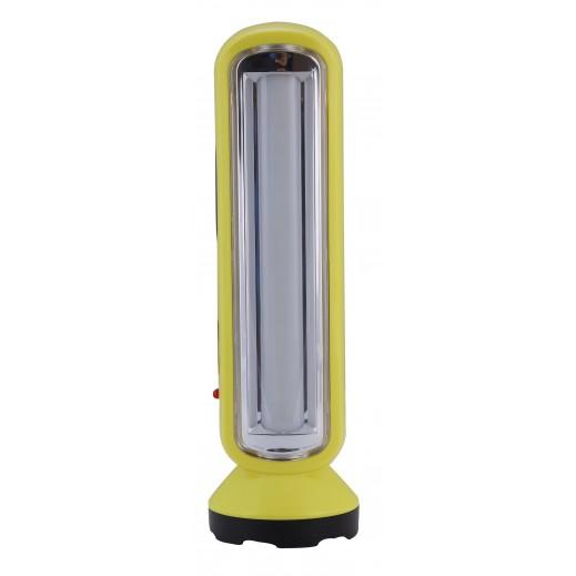 جيباس – كشاف LED قابل للشحن مع فانوس طوارىء مدمج - اصفر