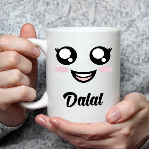 الاسم على كوب (تصميم فتاة) - MU039 - يتم التوصيل بواسطة Berwaz.com