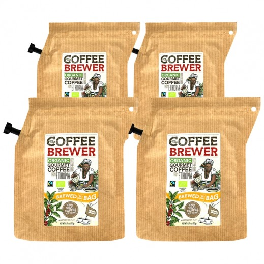 كافي برور - قهوة أثيوبيا العضوية المعتمدة 20 جرام (4 حبة) - عرض التوفير
