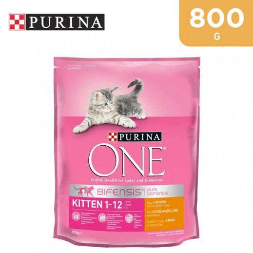 بورينا - طعام القطط الصغيرة وان مع الدجاج والحبوب الكاملة 800 جم