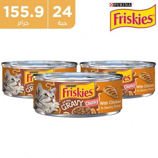 بورينا – طعام القطط الطبيعي فرسكيزغرايفي دجاج في صلصة 24 × 155.9 جم