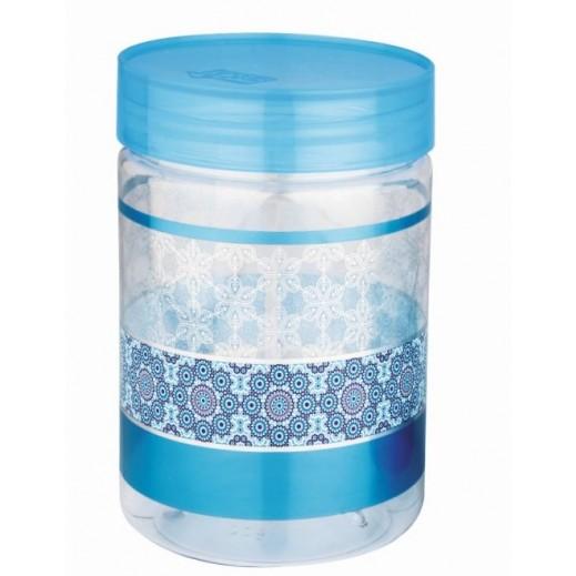 جريس - طقم أوعية بلاستيك 4 حبة مع ملعقة (ألوان متعددة) - 1100 مل