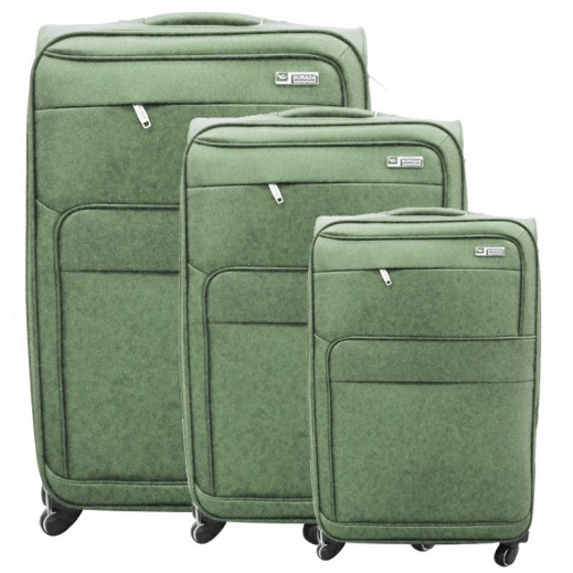 a06e52c4279ba سونادا – 3 حقائب سفر بعجل – أخضر