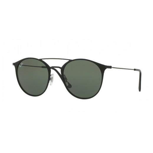 """راي بان – نظارة شمسية """"كلاسيك"""" لكلا الجنسين موديل  RBN 3546أسود/ أخضر مقاس 52 ملم"""