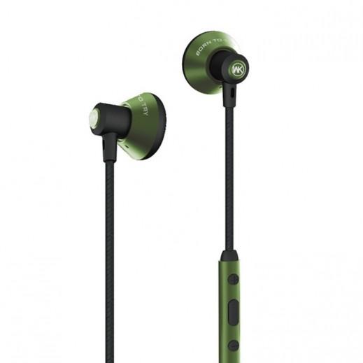 دبليو كي ديزاين- سماعه سلكيه مع ميكروفون بطول 1.2 م – اخضر
