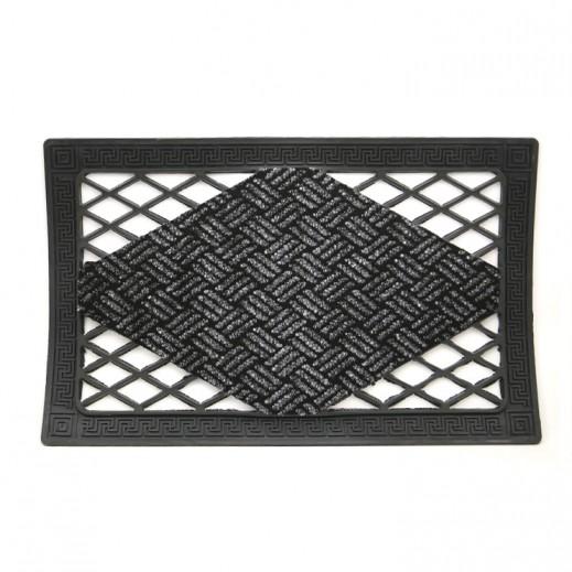 سجادة باب إيطالي أسود (65 × 40 سم) - رمادي