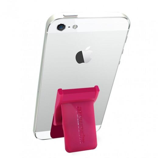 بروميت مقبض اصبع آمن متعدد التوافق مع قاعدة تثبيت قابلة للسحب اللون وردي