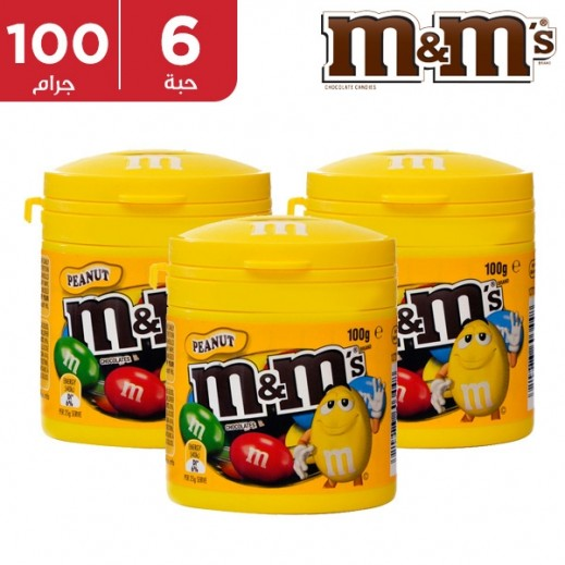 إم & إمز - علبة شوكولاته بالفول سوداني 6 × 100 جم