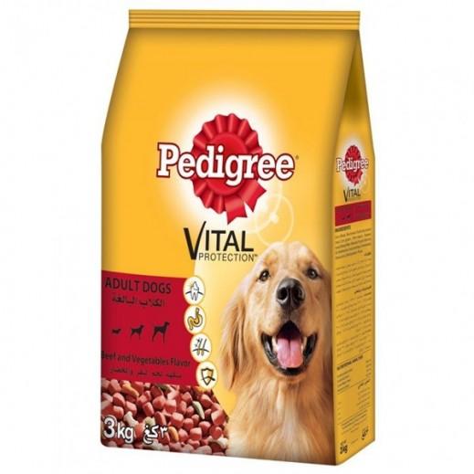 بيدجري – طعام الكلاب البالغة بنكهة لحم البقر 3 كجم