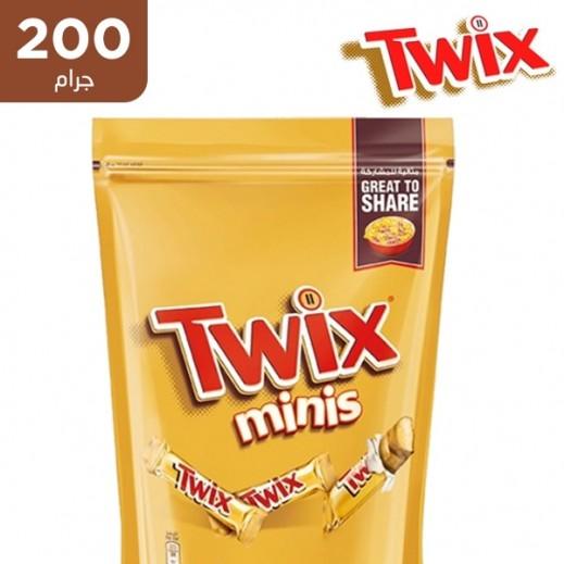 تويكس - شوكولاتة مينيز توين باك 10 قطع 200 جم
