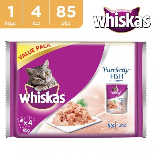 ويسكس بيرفكتلي طعام قطط تونة 4 x 85 جم