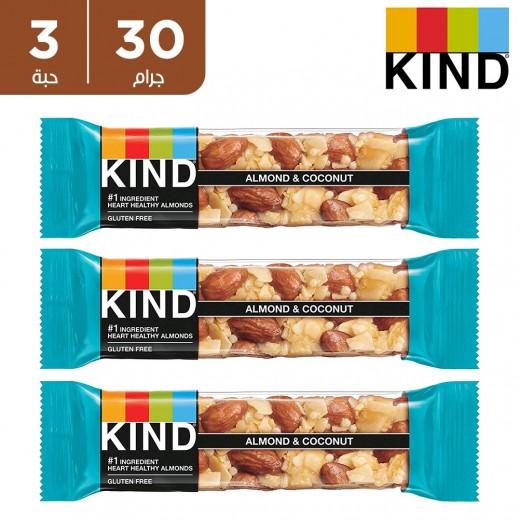بي كايند لوح اللوز و جوز الهند خالية من الجلوتين 3 × 30 جم