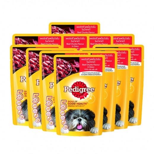 بيدجري – طعام الكلاب بنكهة لحم البقر 12×130 جم