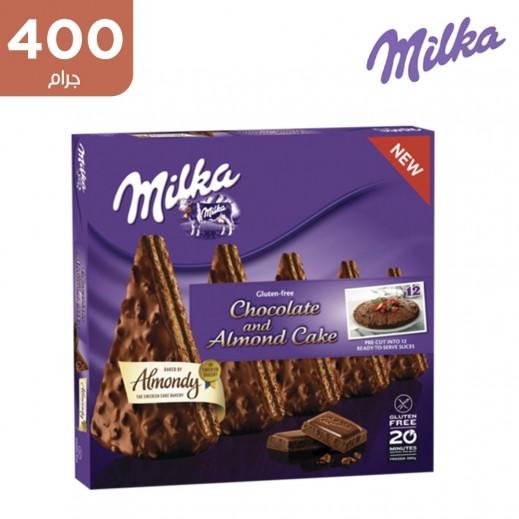 ميلكا كيكة الشوكولاتة والبندق المجمدة خالية من الجلوتين 400 جم