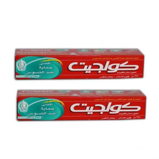 كولجيت - معجون أسنان بالنعناع (2 حبة × 125 مل)