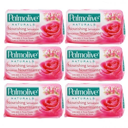 بالموليڤ – صابون بخلاصة زيت الورد 125 جم ( 6 حبة )