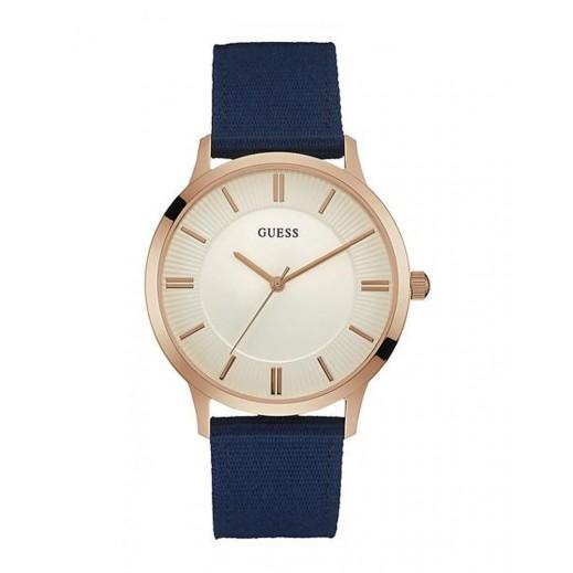 """جيس - """"إسكرو"""" ساعة يد للرجال، حزام من القماش - يتم التوصيل بواسطة التوصيل بعد 4 أيام عمل بواسطة بيضون"""