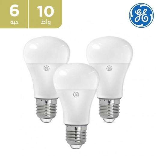 GE - لمبة 10 واط LED - ابيض – 6 حبة